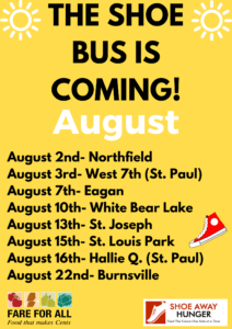Show Away Hunger Bus Schedule - August 2018