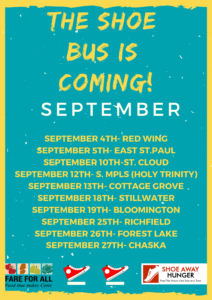 Sept 2018 shoe bus schedule image